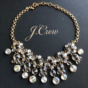 J. Crew icy crystal drop necklace